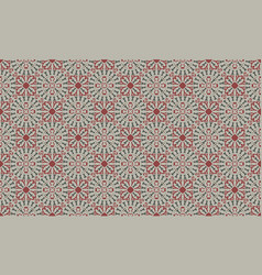 decorative seamless pattern in red and green color vector image