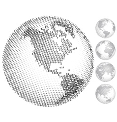 Digital globes vector image
