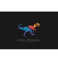 dinosaur logo design color logo animal logo vector image