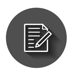 document note icon in flat style paper sheet with vector image