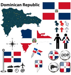 Dominican Republic map vector image
