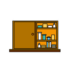 Drugs cabinet isolated vector