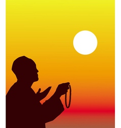 East on Ramadan vector image