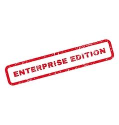 Enterprise edition text rubber stamp vector