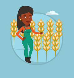 farmer in wheat field vector image