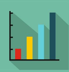 Finance chart icon flat vector
