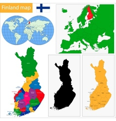 Finland map vector