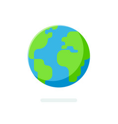 flat style earth globe icon spherical world map vector image