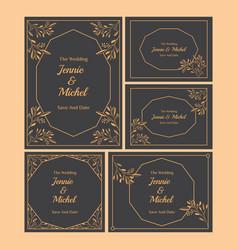 Floral wedding invitation-08 vector