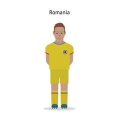 Football kit Romania vector image