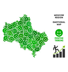 Happiness moscow oblast map collage of vector