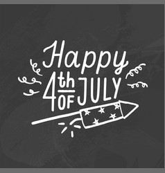 happy fourth july vector image