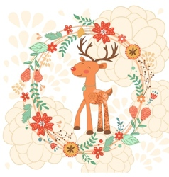 Hello my love card with deer vector image