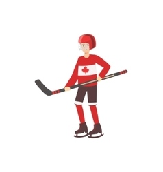 Hockey player as a national canadian culture vector