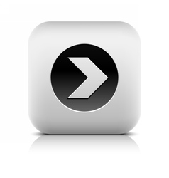 Icon with arrow sign in black circle vector image