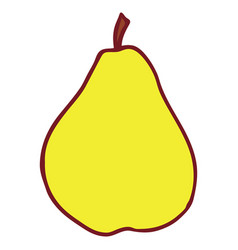 isolated flat pear vector image