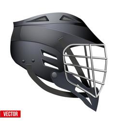 Lacrosse helmet side view vector