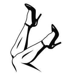 Legs in high heels vector