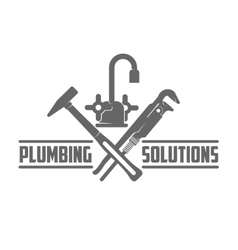 logo water gas engineering plumbing vector image