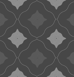 Monochrome pattern with black and gray wavy vector