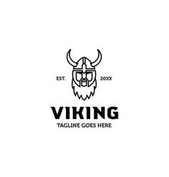monoline viking logo vector image