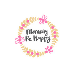 mothers day lettering calligraphy labels isolated vector image