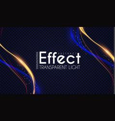 motion light effect shining wave glow design vector image