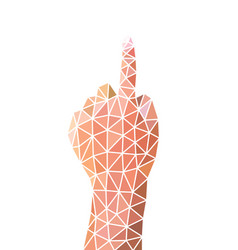 number one hand sign body language vector image