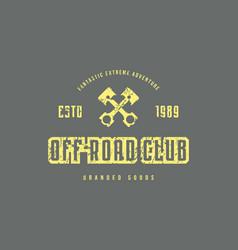 Off-road club emblem vector