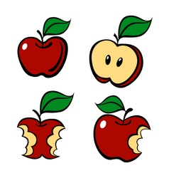 Painting apple set vector