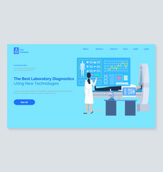 patient healthy report cardiogram and tech vector image