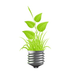 power plant grass vector image