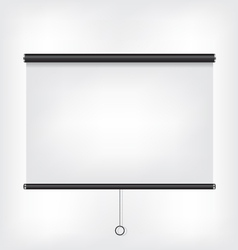 Projector blank screen vector image