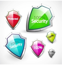 protection and security icons vector image