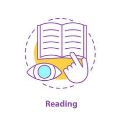 reading book concept icon vector image