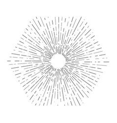 Retro sun bursts vintage radiant sun rays shape vector