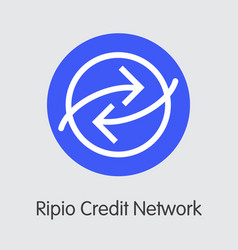 Ripio credit network virtual currency - vector