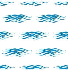 Sea blue waves with ripple pattern vector