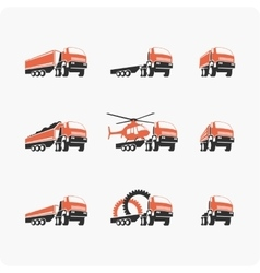 Set of truck vector