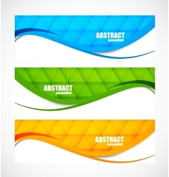 set wavy banners vector image