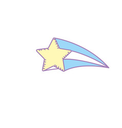 Shiny star art design icon vector