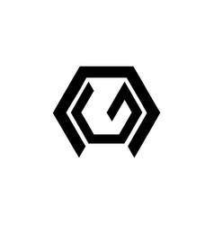 simple ng ne gn en geometric initials company logo vector image