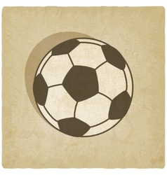 soccer sport old background vector image