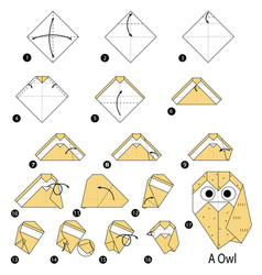 step instructions how to make origami a owl vector image