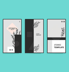 stories template for mobile phone social vector image