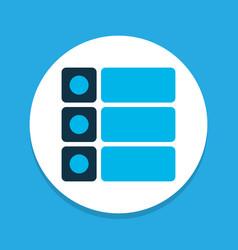 tasks icon colored symbol premium quality vector image