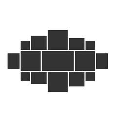 Template collage idea vector