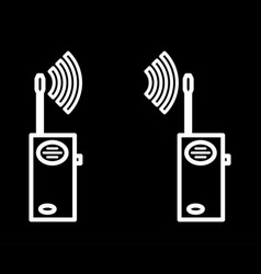 Two way radios icon vector