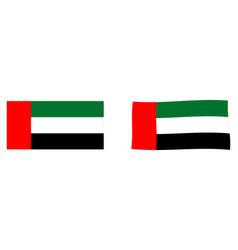 united arab emirates uae flag simple and slightly vector image