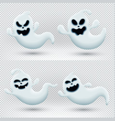 with set funny ghosts vector image
